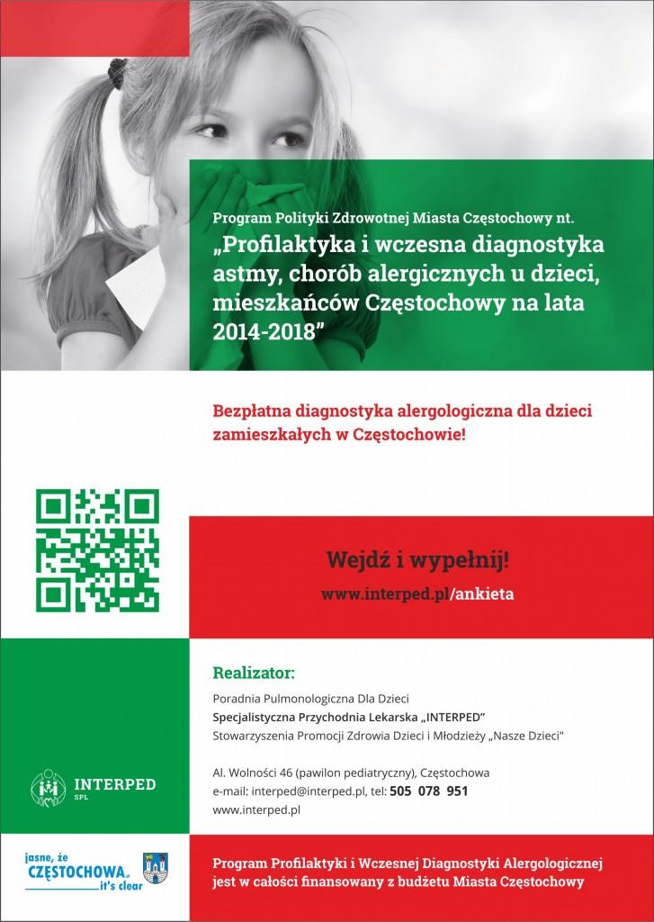 """Program Profilaktyczny """"Wczesna diagnostyka Astmy i Alergii u dzieci uczęszczających do klas I – IV"""""""